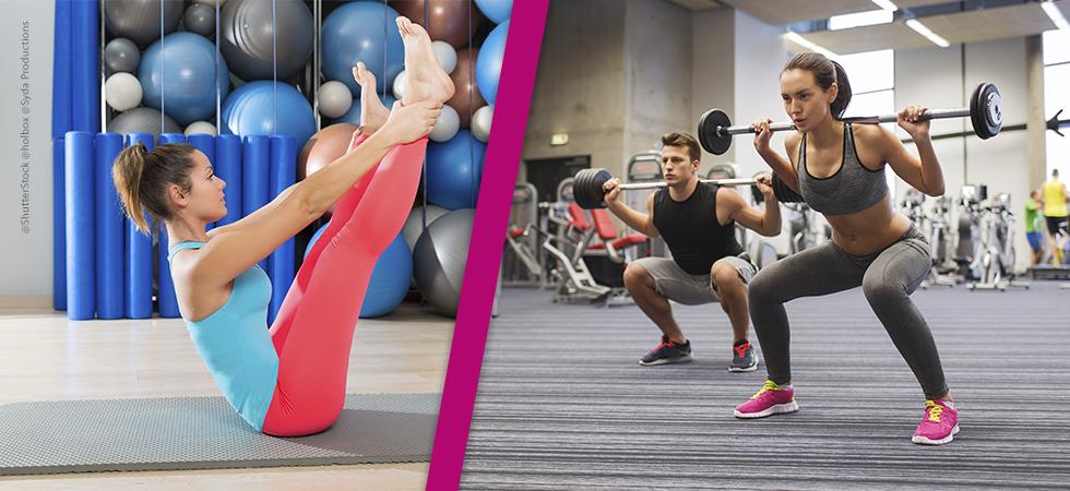 pilates e musculação